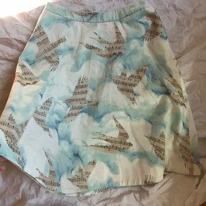 Anthropologie Skirts - Maeve Anthropologie musical bird skirt 6